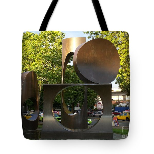 Tote Bag featuring the photograph Seattle Sculpture by Chalet Roome-Rigdon