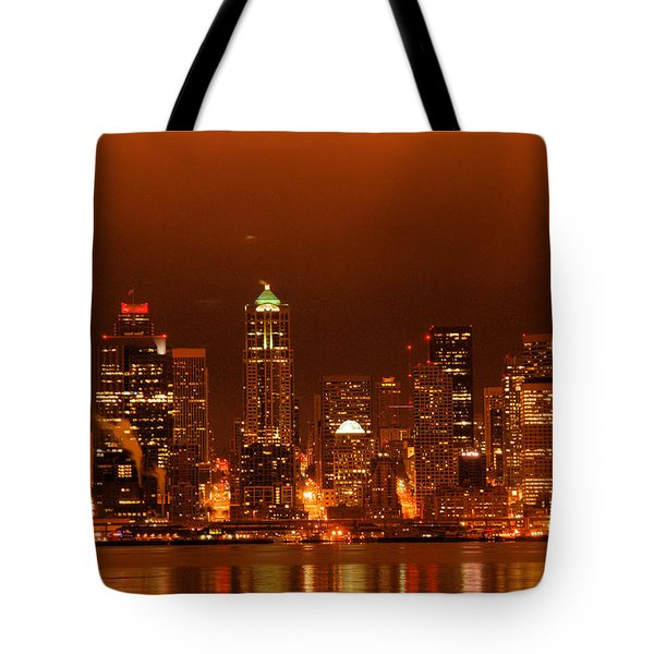 Seattle Skyline Tote Bag