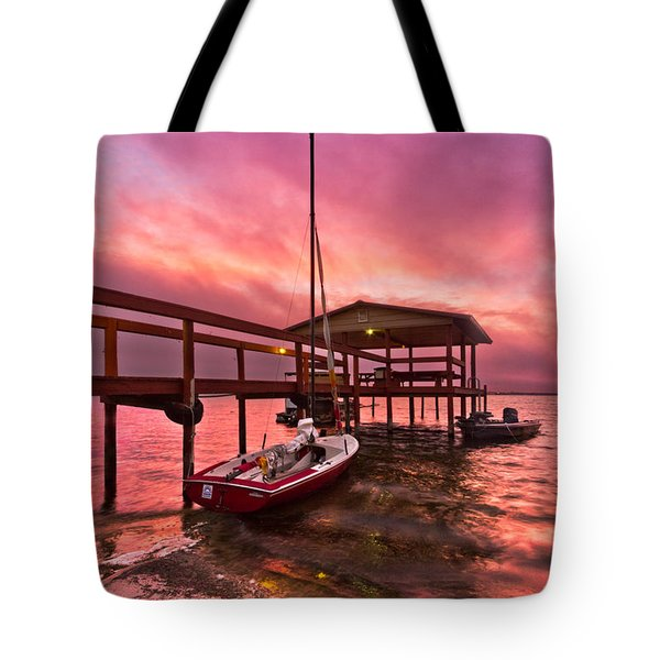 Sebring Sailing Tote Bag by Debra and Dave Vanderlaan