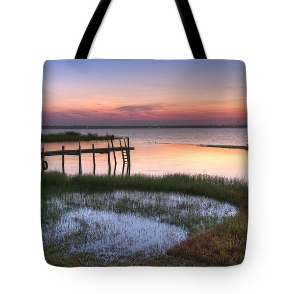 Sebring Sunrise Tote Bag by Debra and Dave Vanderlaan