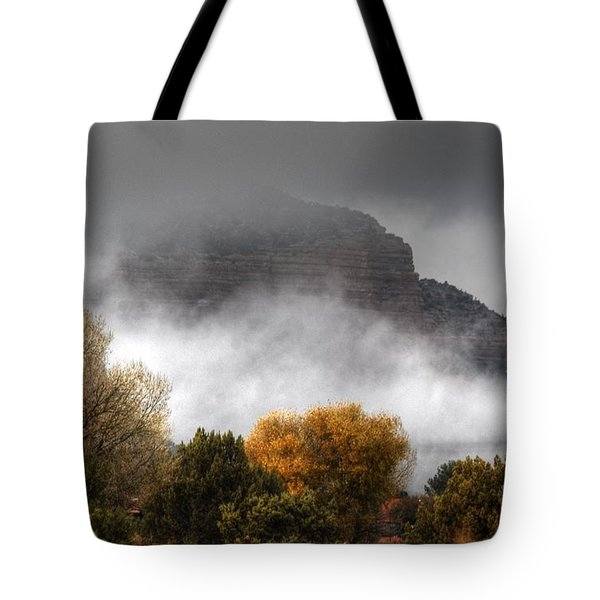 Tote Bag featuring the photograph Sedona Fog by Tam Ryan