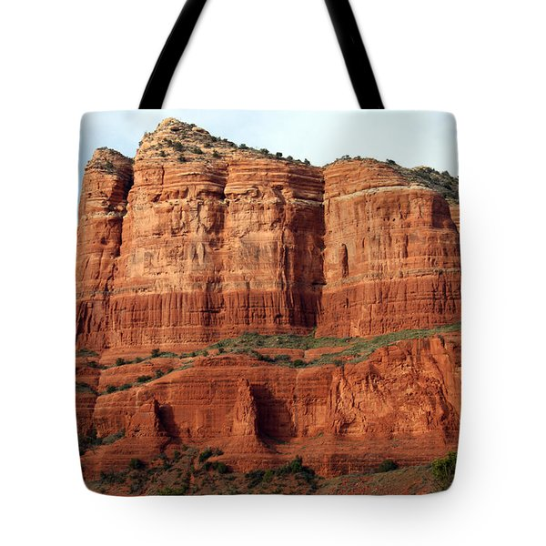 Sedona Red Tote Bag by Debbie Hart
