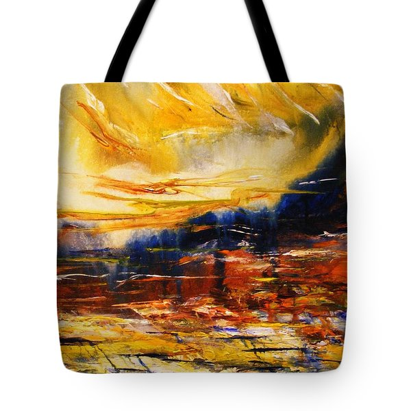 Tote Bag featuring the painting Sedona Sky by Karen  Ferrand Carroll