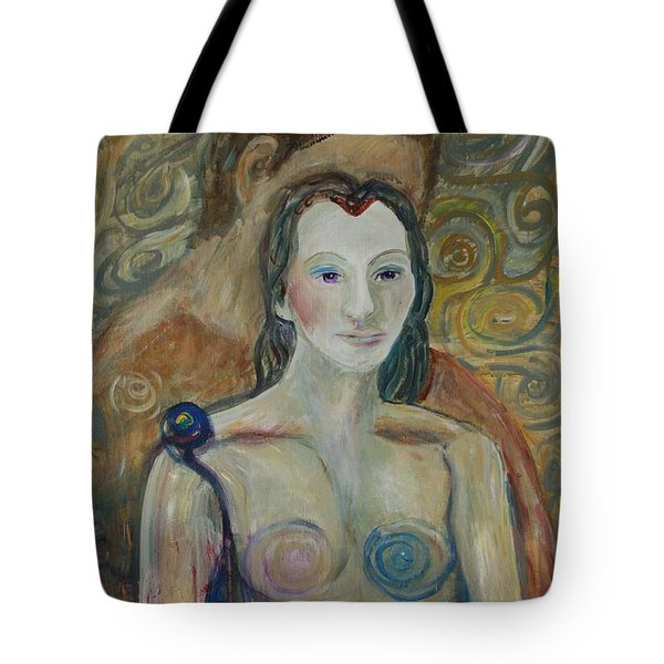 Tote Bag featuring the painting Seduction by Avonelle Kelsey
