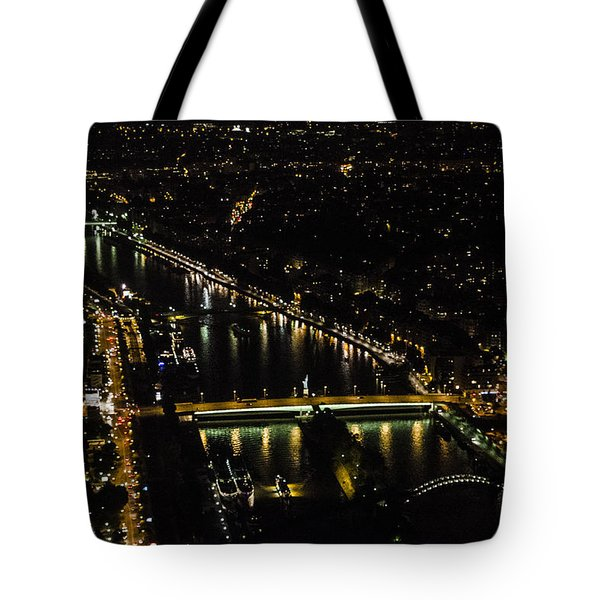 Seine River Atop The Eiffel Tower Tote Bag by Marta Cavazos-Hernandez