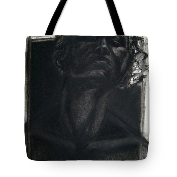 Tote Bag featuring the drawing Self Portrait 2008 by Gabrielle Wilson-Sealy