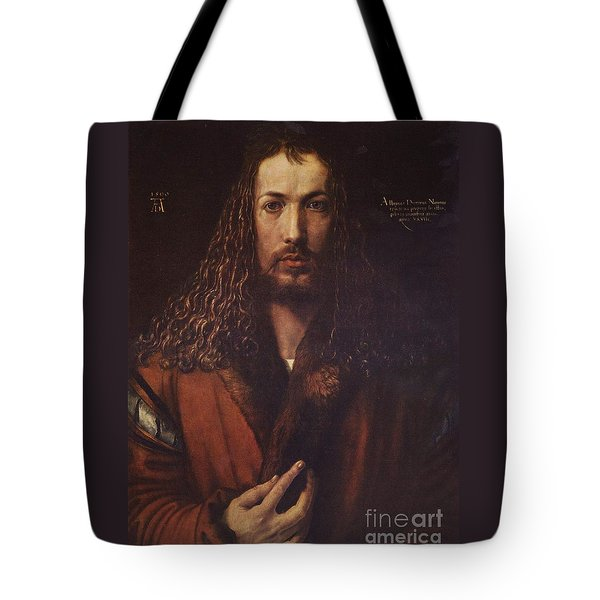 Self Portrait  Durer Tote Bag by Pg Reproductions