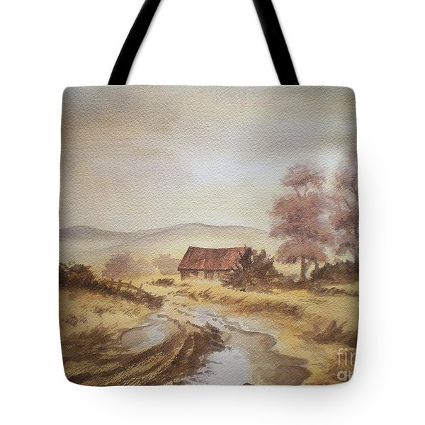 Tote Bag featuring the painting Selo Poslije Kise by Eleonora Perlic