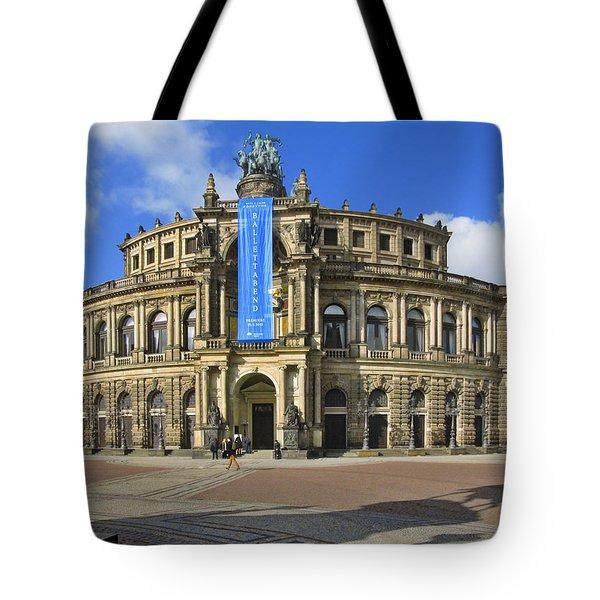 Semper Opera House - Semperoper Dresden Tote Bag by Christine Till