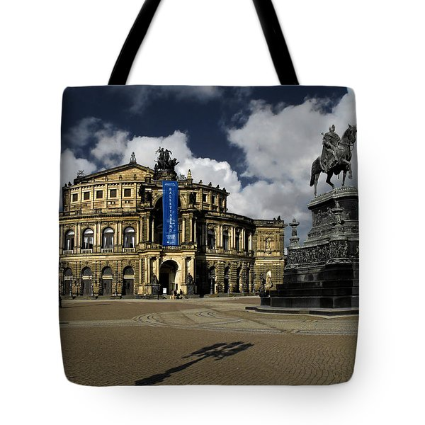 Semper Opera House Dresden - A Beautiful Sight Tote Bag by Christine Till