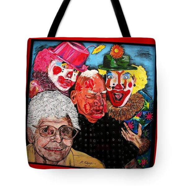 Send In The Clowns Tote Bag by Karen Elzinga