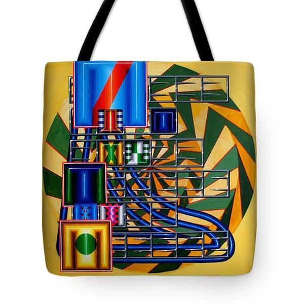 Tote Bag featuring the painting Sendintank by Mark Howard Jones