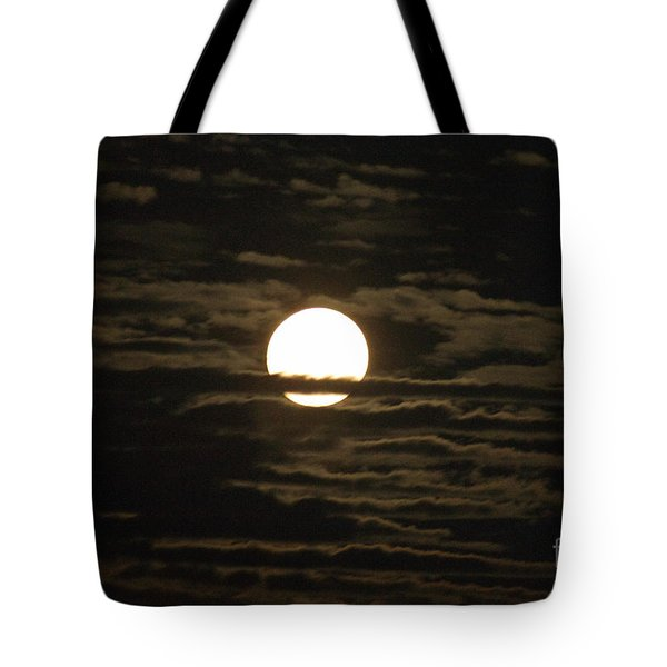 Tote Bag featuring the photograph Seneca Lake Moon by William Norton