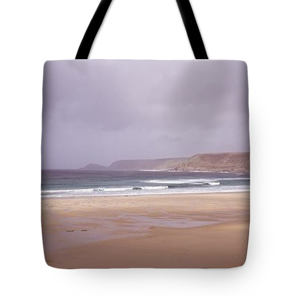 Sennen Cove Beach At Sunset Tote Bag by Axiom Photographic