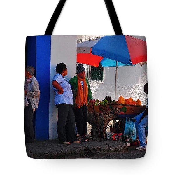 Senor Papaya Tote Bag by Skip Hunt