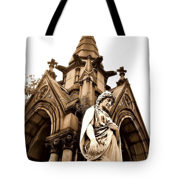 Sepia - Forrest Lawn Cemetery - Buffalo New York Tote Bag