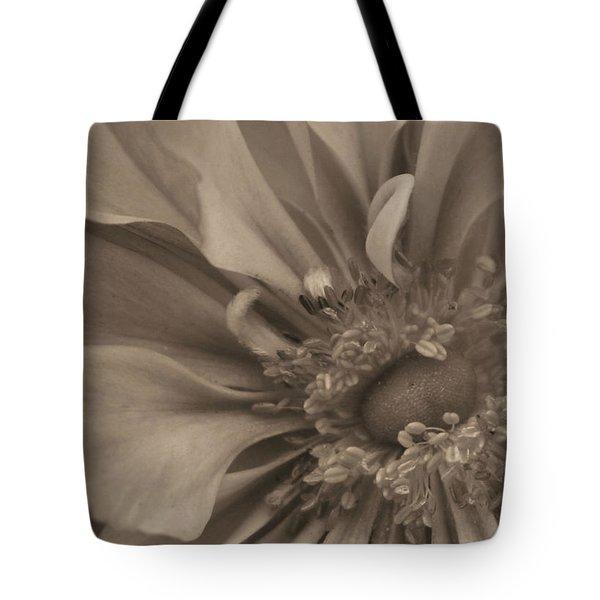 Sepia Floral Tote Bag by Kristin Elmquist