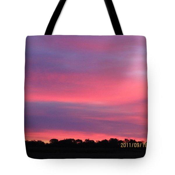 September 16 Sunrise Five Tote Bag by Tina M Wenger