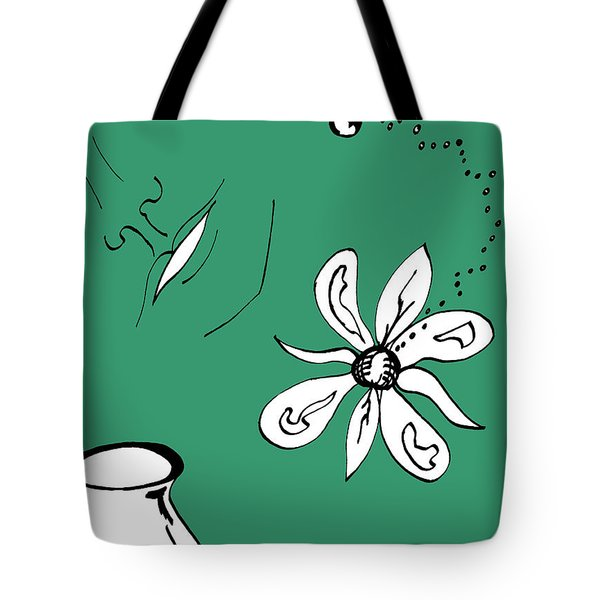 Serenity In Green Tote Bag by Mary Mikawoz