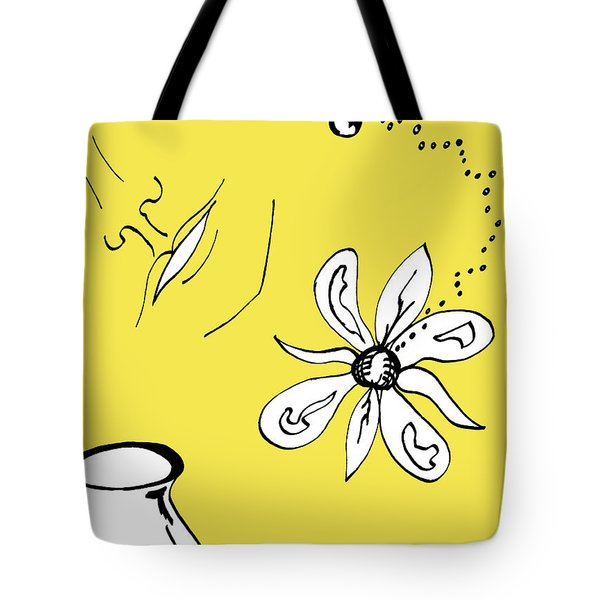 Serenity In Yellow Tote Bag by Mary Mikawoz