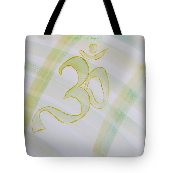 Tote Bag featuring the painting Serenity by Sonali Gangane