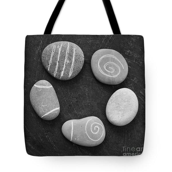 Serenity Stones Tote Bag by Linda Woods