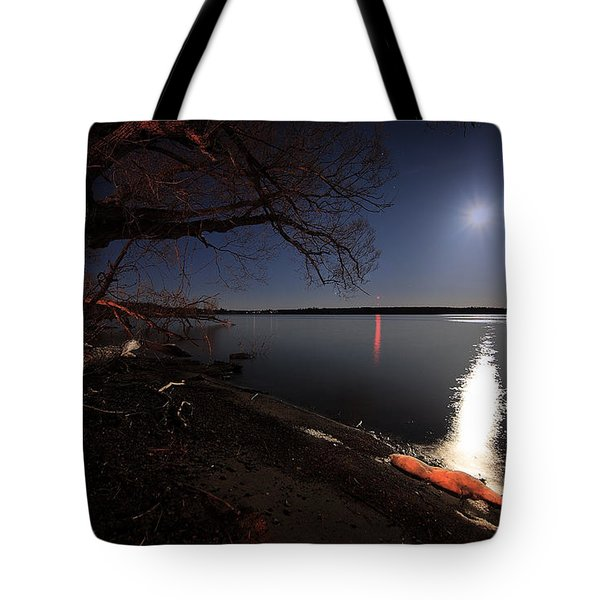 Setting Moon Tote Bag by Everet Regal