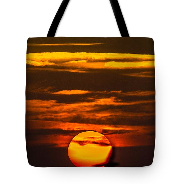 Setting Sun Flyby Tote Bag