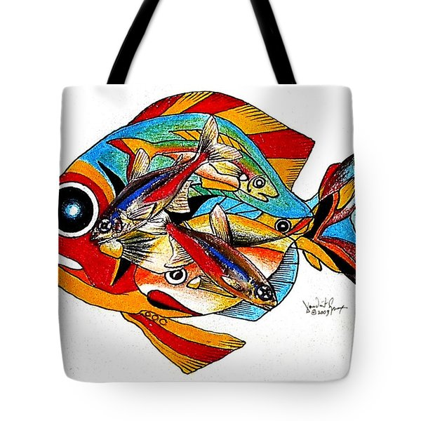 Seven Fish Tote Bag