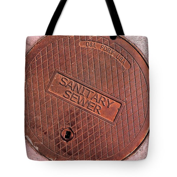 Tote Bag featuring the photograph Sewer Cover by Bill Owen