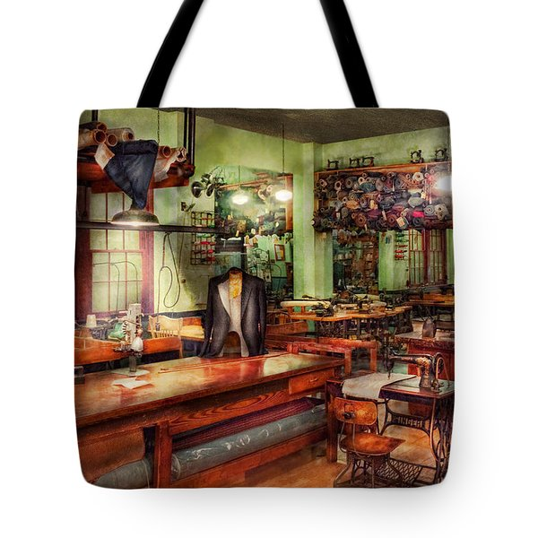 Sewing - Industrial - The Sweat Shop  Tote Bag by Mike Savad