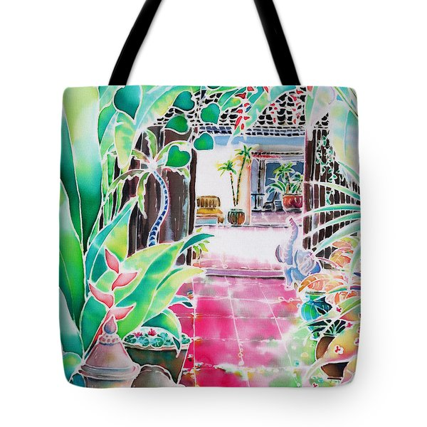 Shade In The Patio Tote Bag