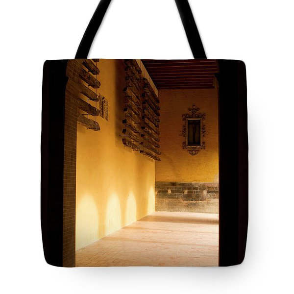Tote Bag featuring the photograph Shaded Portal by Lorraine Devon Wilke