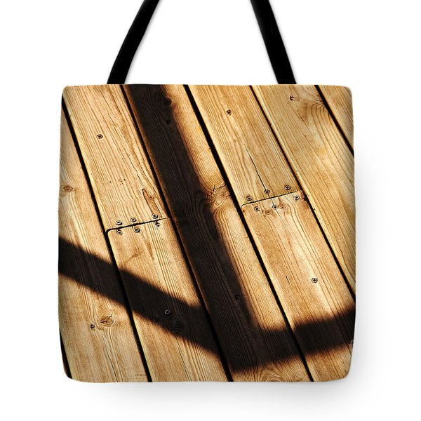Shaded Walkway Floor Tote Bag
