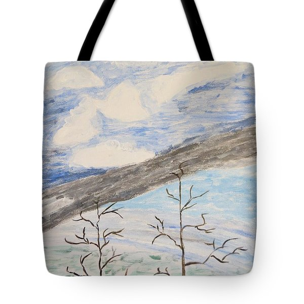 Tote Bag featuring the painting Shades Of Nature by Sonali Gangane