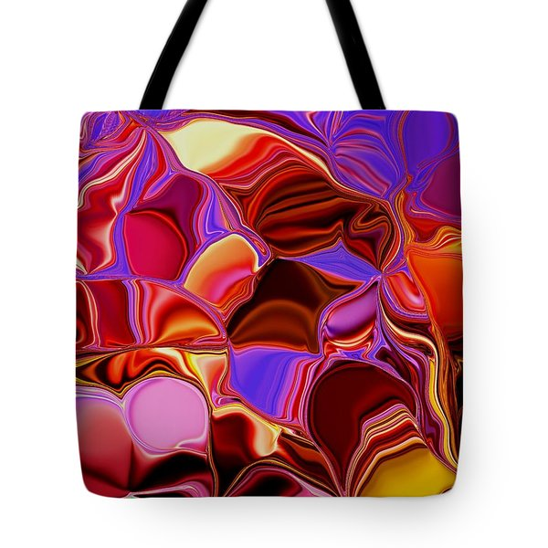 Shades Of Satin Tote Bag by Renate Nadi Wesley