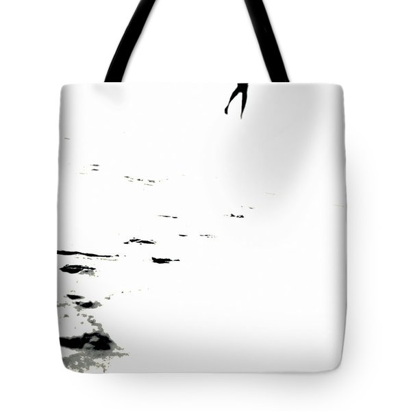 Shadow Footprints Of My Past Tote Bag by Jenny Rainbow