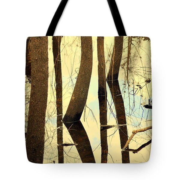 Shadow Trees Tote Bag by Marty Koch