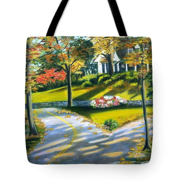 Shadows On The Road Tote Bag