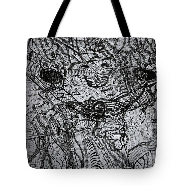 Tote Bag featuring the drawing Shango by Gloria Ssali