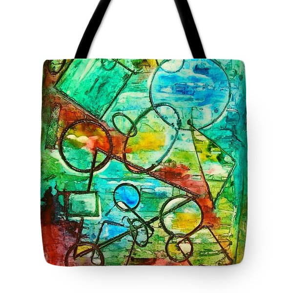 Tote Bag featuring the painting Shapes by Mary Kay Holladay