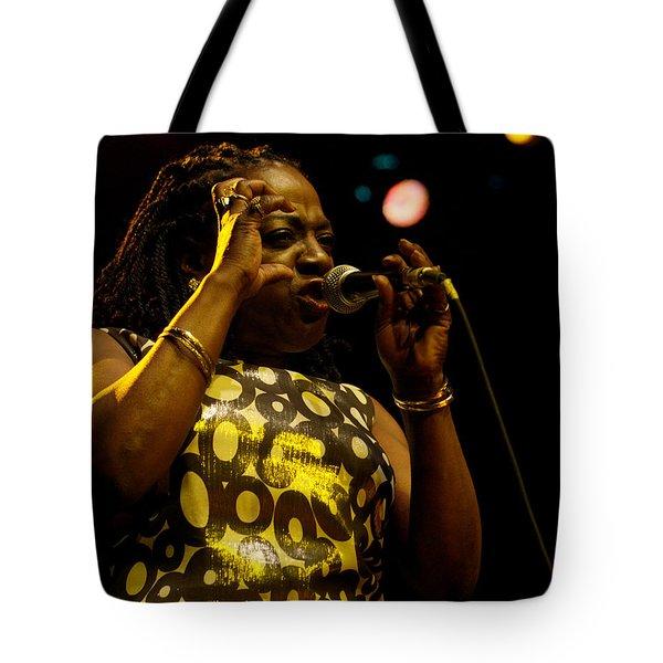 Sharon Jones Tote Bag by Jeff Ross