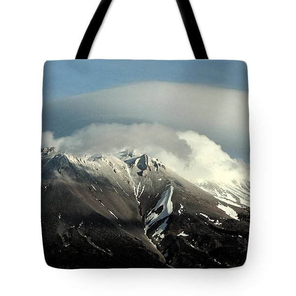 Tote Bag featuring the digital art Shasta Lenticular 2 by Holly Ethan