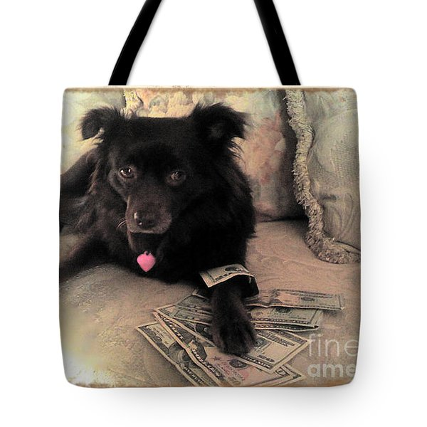 She Is In The Money Tote Bag by Nina Prommer