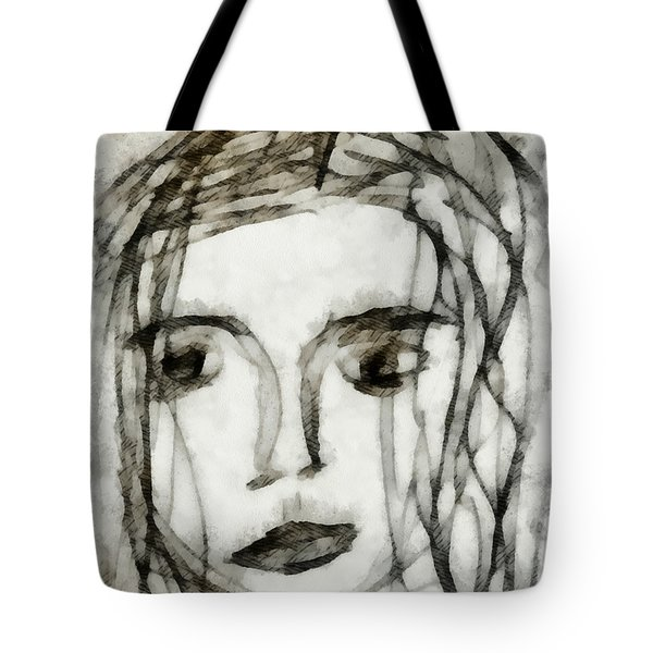 She Sat Alone 2 Tote Bag by Angelina Vick