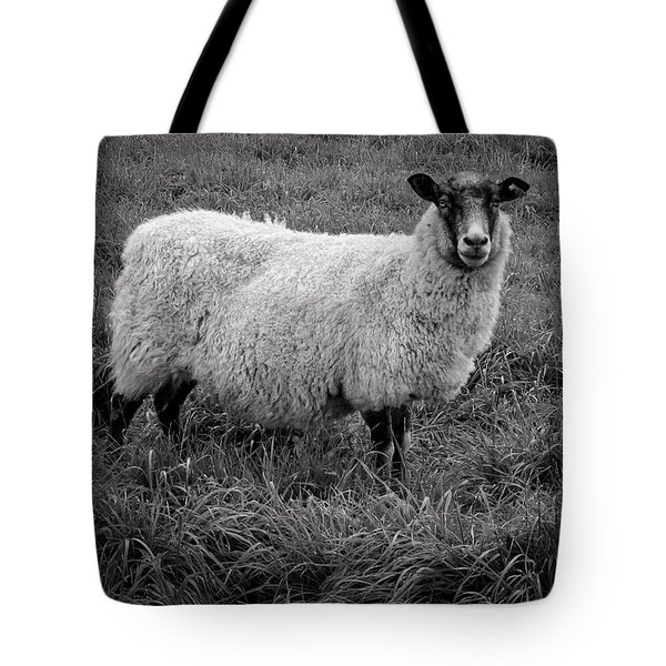 Sheep In Monochrome Tote Bag