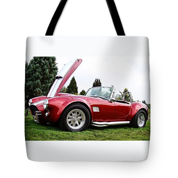 Tote Bag featuring the photograph Shelby Cobra by Nick Kloepping