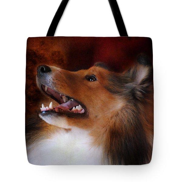 Sheltie II Tote Bag by Jai Johnson