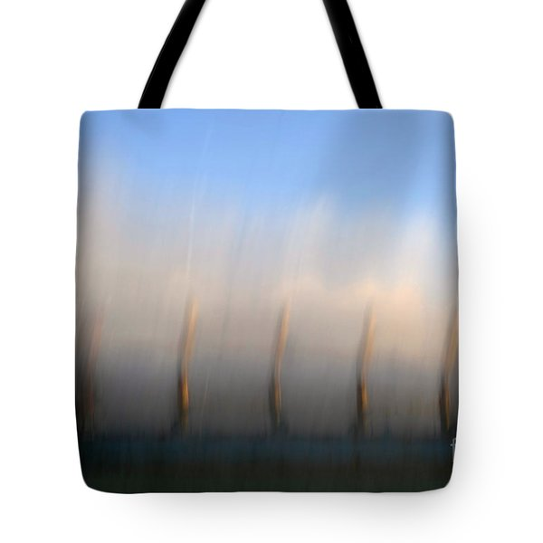 Ship At Harbour  Tote Bag by Catherine Lau