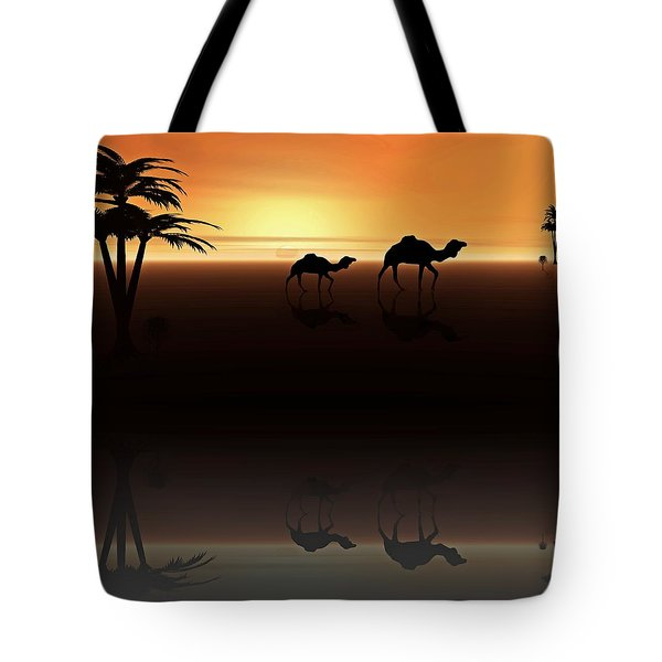 Ships Of The Desert Tote Bag by David Dehner